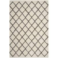 Safavieh Adriana Shag Contemporary Cream/ Grey Polyester Area Rug - 8' x 10'