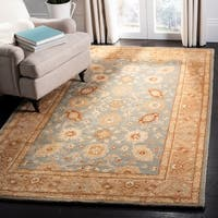 Safavieh Antiquity Bohemian Hand-Tufted Blue/ Beige Wool Area Rug - 8' x 10'