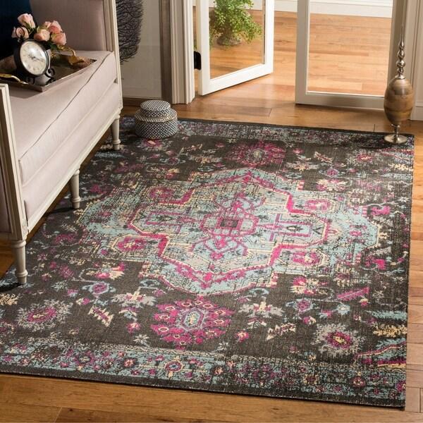 shop safavieh artisan bohemian black blue distressed area rug 8 39 x 10 39 on sale free. Black Bedroom Furniture Sets. Home Design Ideas