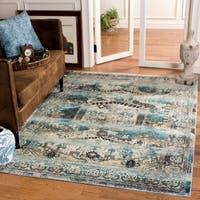 Safavieh Baldwin Transitional Ivory/ Teal Area Rug - 9' x 12'