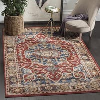 Safavieh Bijar Traditional Oriental Red/ Royal Blue Distressed Area Rug - 10' x 14'