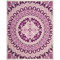 Safavieh Bellagio Contemporary Hand-Tufted Pink/ Ivory Wool Area Rug - 8' x 10'
