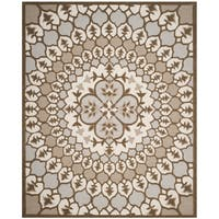 Safavieh Bellagio Contemporary Hand-Tufted Ivory/ Beige Wool Area Rug - 8' x 10'