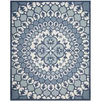 Safavieh Bellagio Contemporary Hand-Tufted Ivory/ Blue Wool Area Rug - 8' x 10'