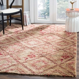 Safavieh Bohemian Transitional Hand-Knotted Natural/ Red Jute Area Rug (8' x 10')