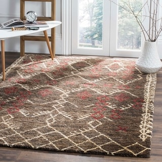 Safavieh Bohemian Transitional Hand-Knotted Brown/ Multi Jute Area Rug (8' x 10')