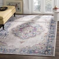 Safavieh Bristol Bohemian Grey/ Blue Polyester Area Rug (8' x 10')
