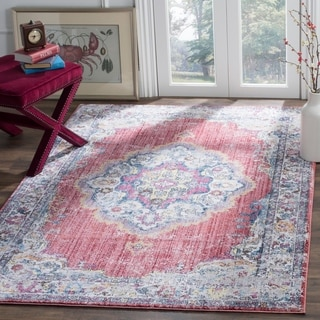 Safavieh Bristol Bohemian Pink/ Grey Polyester Area Rug (8' x 10')