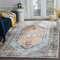 Safavieh Bristol Bohemian Blue/ Camel Polyester Area Rug - 9' x 12'