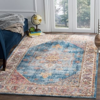 Safavieh Bristol Blue/ Ivory Polyester Area Rug (9' x 12')