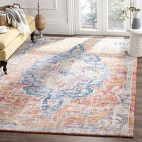 Safavieh Bristol Bohemian Blue/ Orange Polyester Area Rug (8' x 10') - 8' x 10'