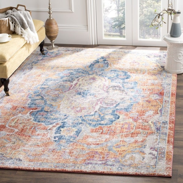 Safavieh Bristol Bohemian Blue Orange Polyester Area Rug 8 X27