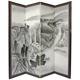 Handmade Large Misty Mountain Silkscreen (China)