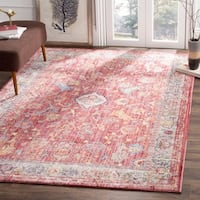Safavieh Bristol Transitional Pink/ Grey Polyester Area Rug (8' x 10')