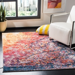 Safavieh Calista Transitional Purple/ Red Polyester Area Rug (8' x 10')