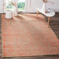 Safavieh Chester Hand-knotted Beige/ Pink Wool/ Bamboo Silk Rug - 8' x 10'