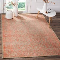 Safavieh Chester Hand-knotted Beige/ Pink Wool/ Bamboo Silk Rug - 9' x 12'