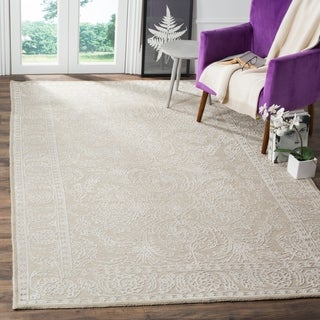 Safavieh Chester Transitional Hand-Knotted Natural/ Off-White Wool Area Rug (8' x 10')