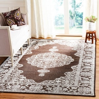 Safavieh Chester Transitional Hand-Knotted Brown/ Natural Wool Area Rug (8' x 10')