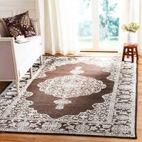 Safavieh Chester Hand-knotted Brown/ Natural Wool/ Bamboo Silk Rug - 9' x 12'