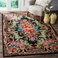 Safavieh Classic Vintage Black/ Multi Cotton Area Distressed Rug - 8' x 10'