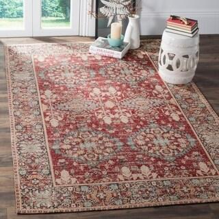 Safavieh Classic Vintage Red/ Multi Cotton Area Distressed Rug (8' x 10')