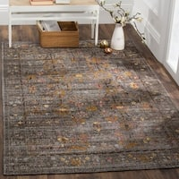 Safavieh Classic Vintage Grey/ Gold Cotton Distressed Area Rug - 8' x 10'