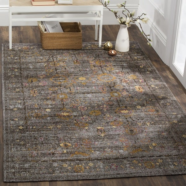 Safavieh Clic Vintage Grey Gold Cotton Distressed Area Rug 8 X27