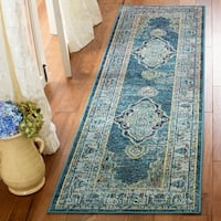 Safavieh Crystal Blue/ Yellow Area Rug - 9' x 12'