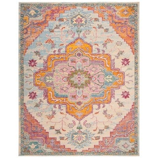 Safavieh Crystal Watercolor Medallion Blue/ Pink Area Rug - 8' x 10'