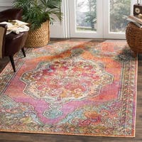 Safavieh Crystal Orange/ Blue Area Rug - 8' x 10'