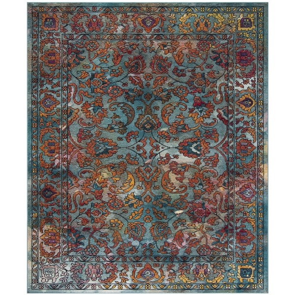 Shop Safavieh Crystal Blue Orange Area Rug 8 X 10