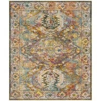 Safavieh Crystal Blue/ Orange Area Rug - 9' x 12'