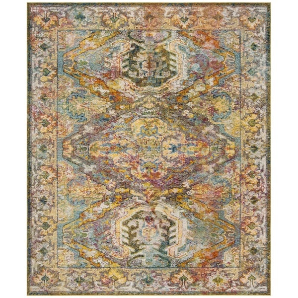 Shop Safavieh Crystal Blue Orange Area Rug 9 X 12