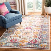 Safavieh Crystal Cream/ Teal Area Rug - 9' x 12'