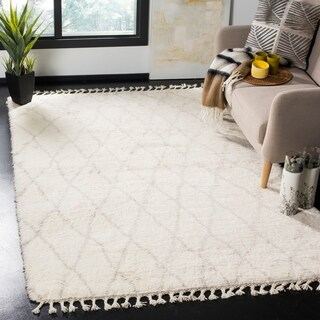Safavieh Casablanca Hand-Knotted Ivory/ Grey Wool Area Rug (8' x 10')