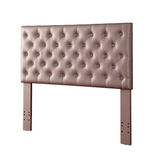 Furniture of America Serena Contemporary Tufted Leatherette LED Headboard