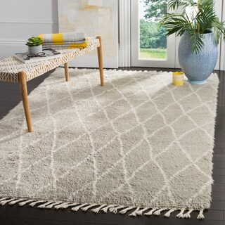 Safavieh Casablanca Hand-Knotted Grey/ Ivory Wool Area Rug (8' x 10')