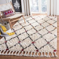 Safavieh Casablanca Hand-Tufted Ivory/ Multi Wool Area Rug - 8' x 10'