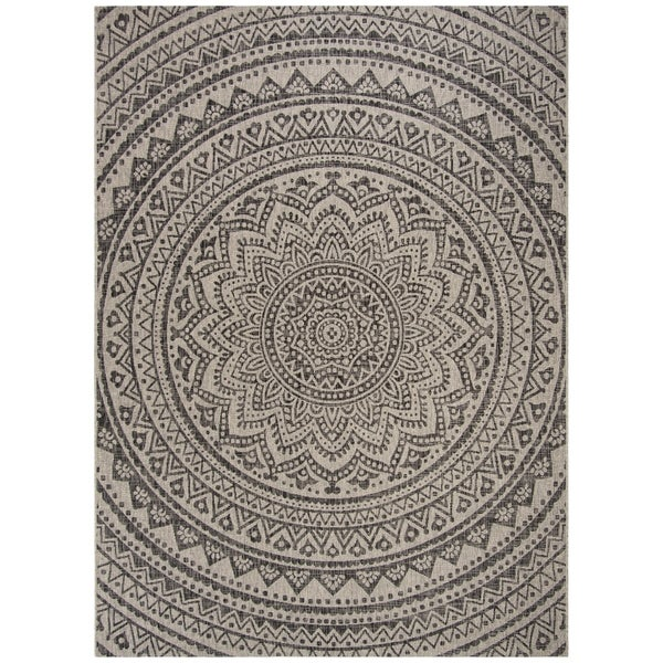 Shop Safavieh Courtyard Floral Mandala Indoor Outdoor