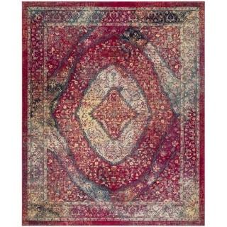 Safavieh Evoke Vintage Oriental Medallion Pink/ Ivory Distressed Rug (9' x 12')