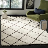 Safavieh Flokati Hand-Tufted Ivory/ Brown Wool Area Rug - 8' x 10'