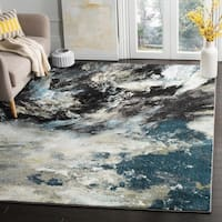 Safavieh Glacier Blue/ Multi Area Rug - 9' x 12'