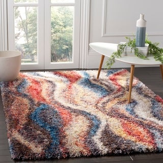 Safavieh Gypsy Red/ Blue Polyester Area Rug (8' x 10')