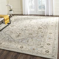 Safavieh Heritage Hand-Tufted Beige/ Grey Wool Area Rug - 9'6 x 13'6