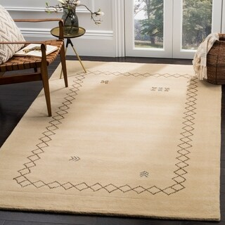 Safavieh Himalaya Hand-Spun Beige/ Multi Wool Area Rug (8' x 10')