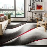 Safavieh Hollywood Grey/ Red Area Rug - 8' x 10'