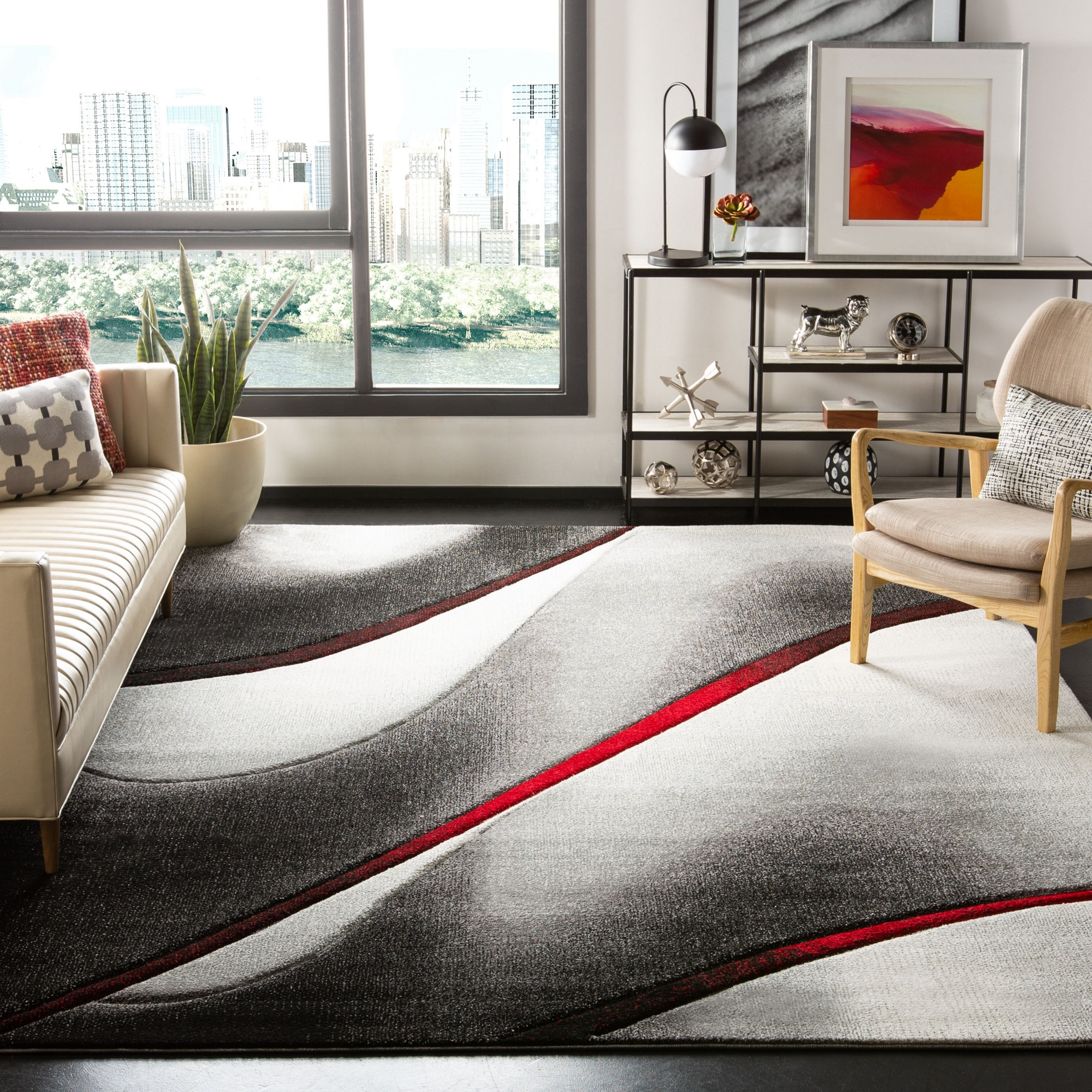 Safavieh Hollywood Jocelyne Mid Century Modern Abstract Rug