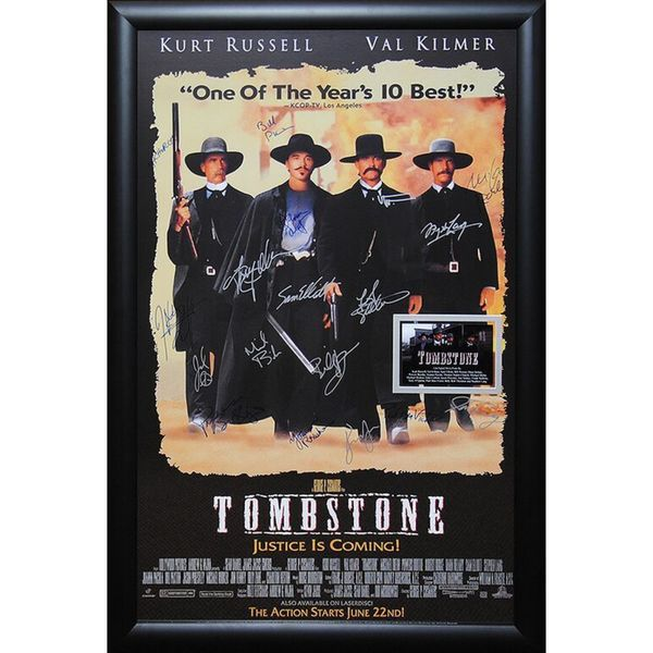 Cast-signed 'Tombstone' Framed Movie Poster