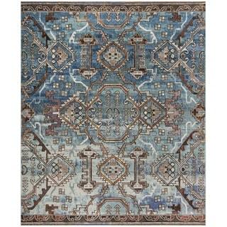 Safavieh Harmony Zoey Vintage Boho Oriental Rug (8 x 10 - Blue/Light Blue)